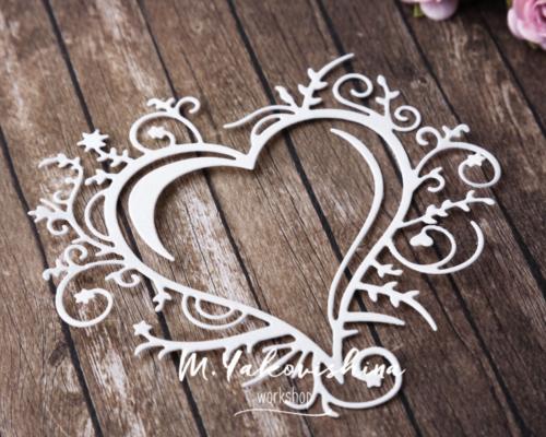 Вырубка - Рамочка в форме сердца
