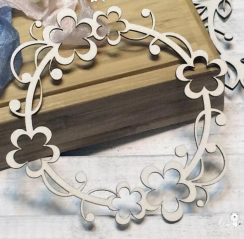 Чипборд из картона Веночек с цветами