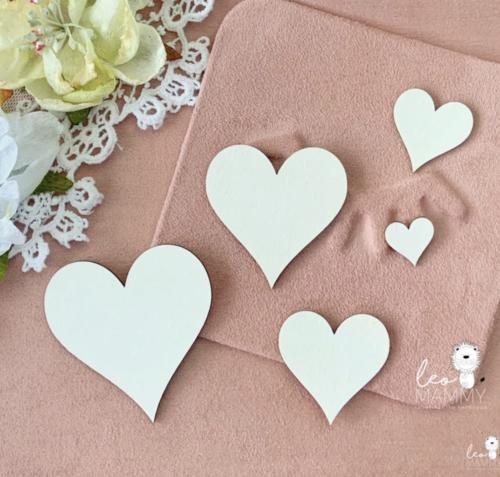 Чипборд из картона Набор сердечек