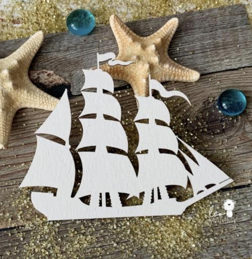 Чипборд из картона Кораблик