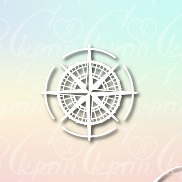 Чипборд из картона Роза ветров