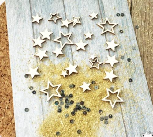 Чипборд из картона набор звездочек