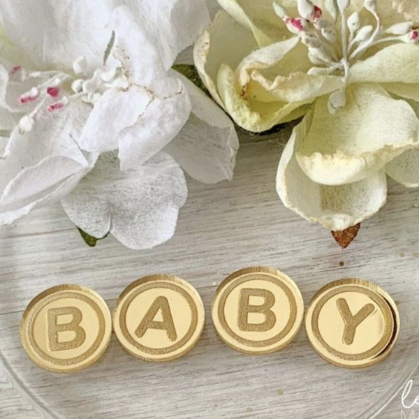 Акриловый декор фишки Baby