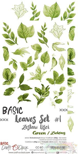 1/3 набора листов для вырезания Basic - leaves Set 01 (6 листов)