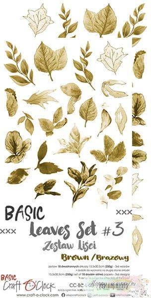 1/3 набора листов для вырезания Basic - leaves Set 03 (6 листов)