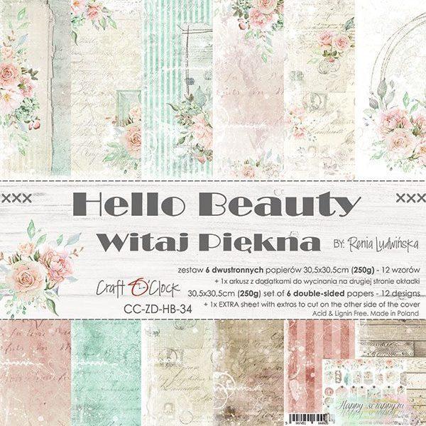 НАБОР БУМАГИ Hello Beauty ОТ Craft O'Clock 30x30