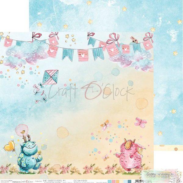 Лист двусторонней бумаги The sweetsters - 01 ОТ Craft O'Clock
