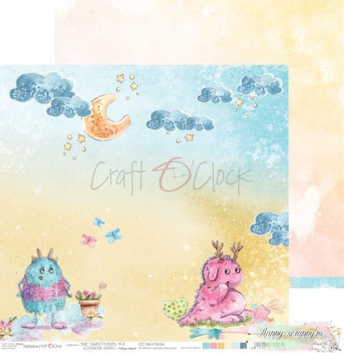 Лист двусторонней бумаги The sweetsters - 04 ОТ Craft O'Clock