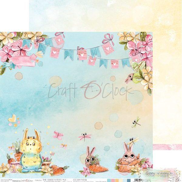 Лист двусторонней бумаги The sweetsters - 06 ОТ Craft O'Clock