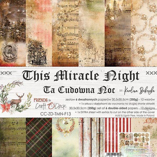 НАБОР БУМАГИ This Miracle Night ОТ Craft O'Clock 30x30