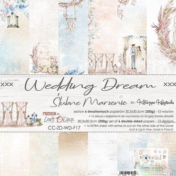 НАБОР БУМАГИ Wedding Dream ОТ Craft O'Clock 30x30
