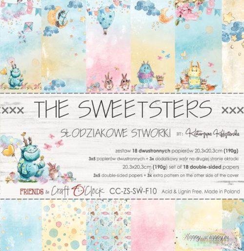 НАБОР БУМАГИ The sweetsters ОТ Craft O'Clock 20x20