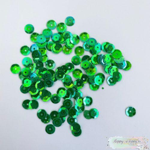 Пайетки зеленые 6 мм.