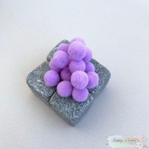 Помпоны фиолетовые 1 см - 15 шт