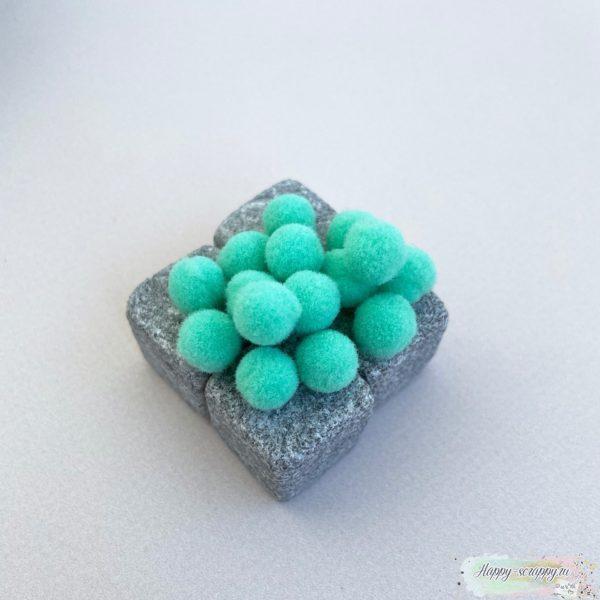 Помпоны зеленые 1 см - 15 шт