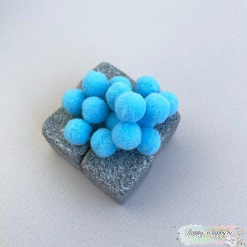 Помпоны голубые 1 см - 15 шт