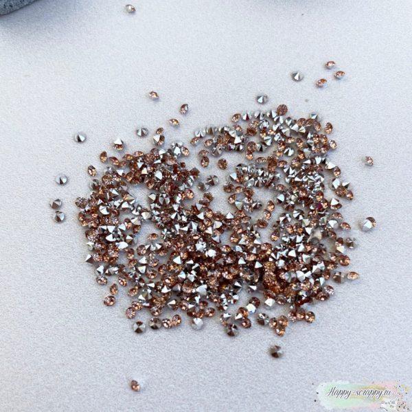 Кристаллы 2 мм. персиковые