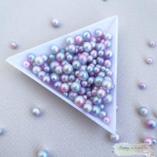 """Жемчужины """"мятые"""" градиент розовый, белый, голубой, фиолетовый"""