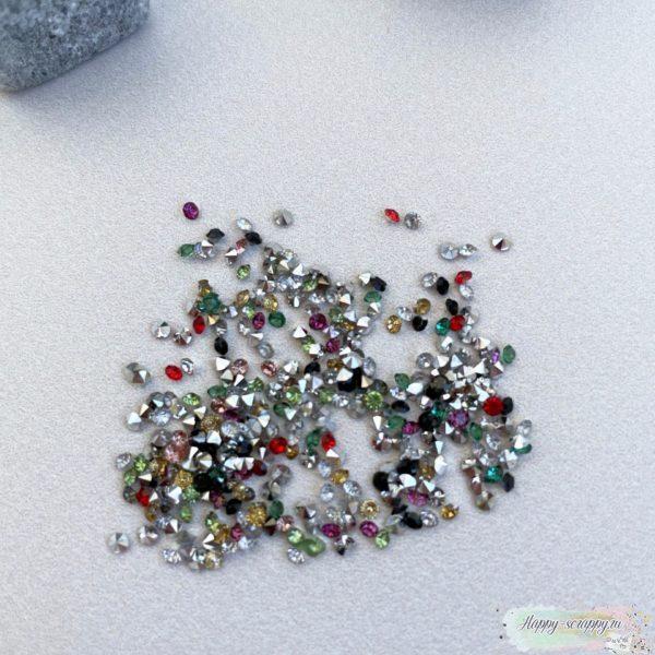 Кристаллы 2 мм. микс 10 грамм в пакете