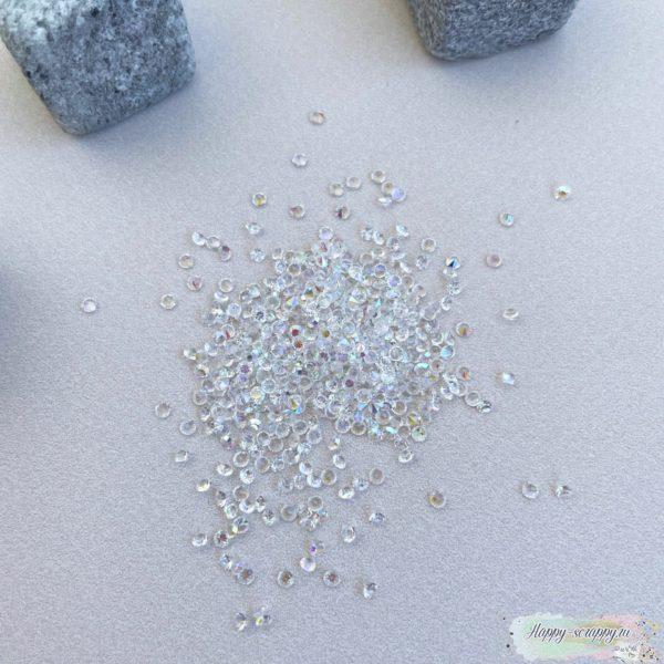 Кристаллы 2 мм. прозрачные 10 грамм в пакете