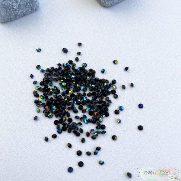 Кристаллы 2 мм. черные