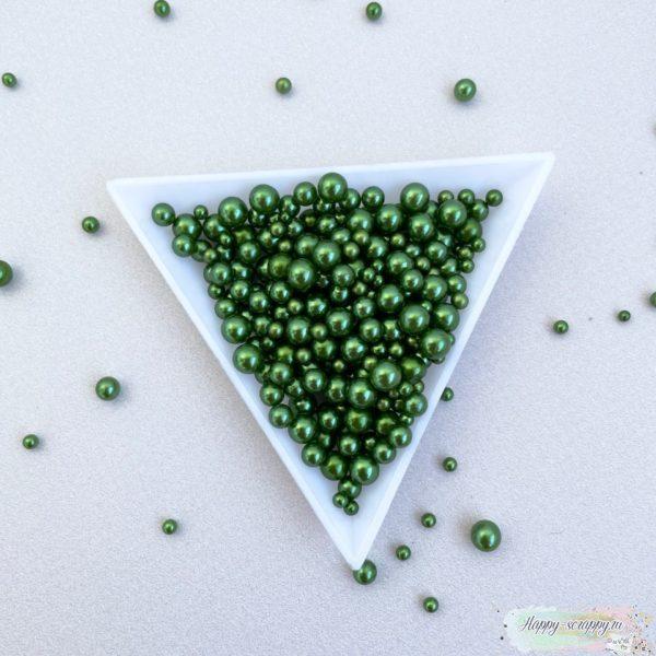 Жемчужины темно-зеленые