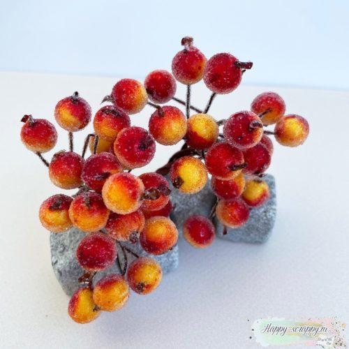 Ягодки сахарные оранжево-красные 10 шт