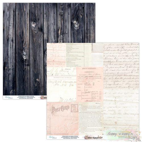 Лист двусторонней бумаги Dear diary - 05 от Mintay papers