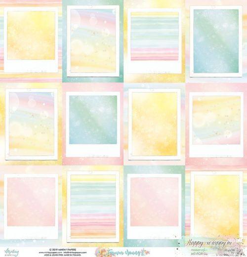 Лист двусторонней бумаги Forever yong - 06