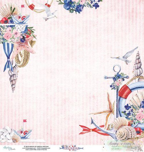 Лист двусторонней бумаги Marina - 02