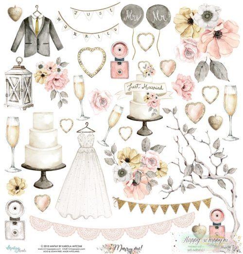 Лист двусторонней бумаги Marry me! - 09 от Mintay papers