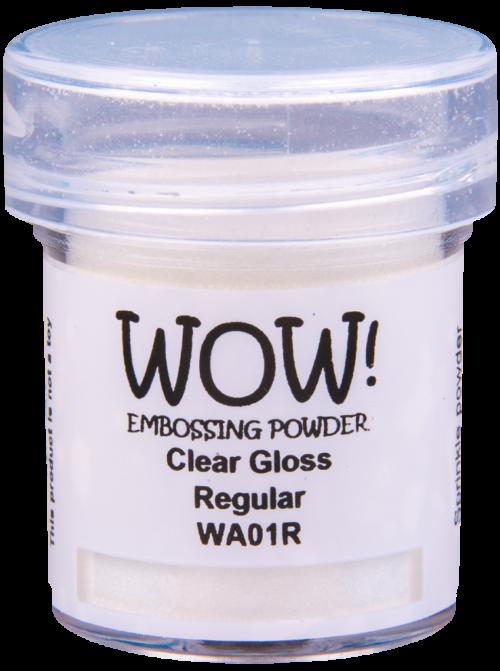 "Прозрачная пудра для эмбоссинга ""Clear Gloss - Regular"" от WOW"