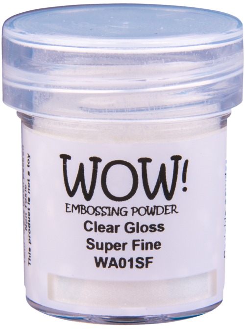 "Прозрачная пудра для эмбоссинга ""Clear Gloss - Super Fine"" от WOW"