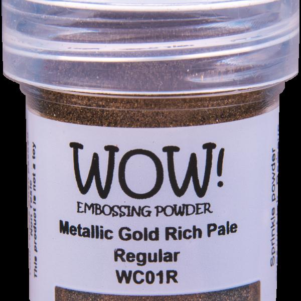 """Металлизированная пудра для эмбоссинга """"Gold Rich Pale - Regular"""" от WOW"""
