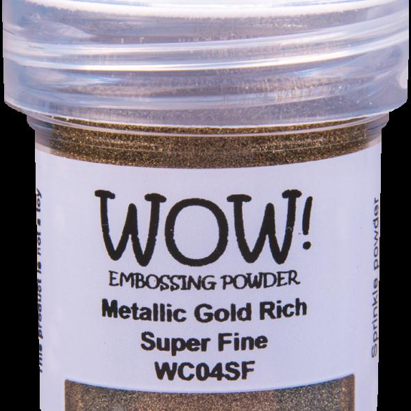 "Металлизированная пудра для эмбоссинга ""Gold Rich - Super Fine"" от WOW"
