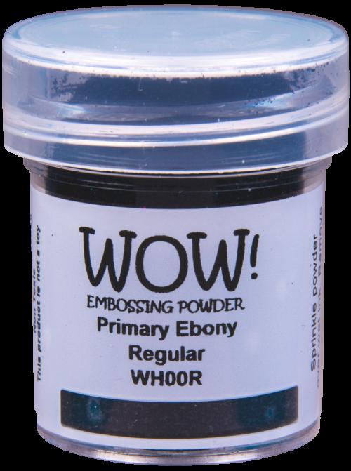 """Пудра для эмбоссинга (первичные цвета) """"Primary Ebony - Regular"""" от WOW"""