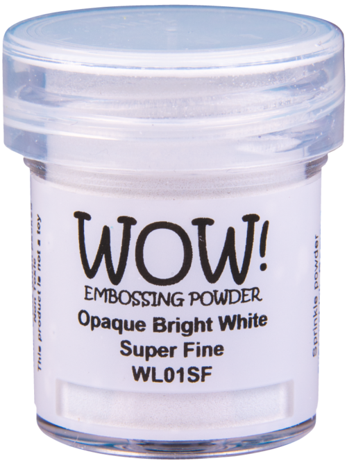 "Непрозраяная пудра для эмобссинга ""Opaque Bright White - Super Fine"" от WOW"