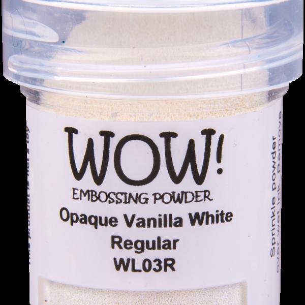 "Непрозраяная пудра для эмобссинга ""Opaque Vanilla White - Regular"" от WOW"