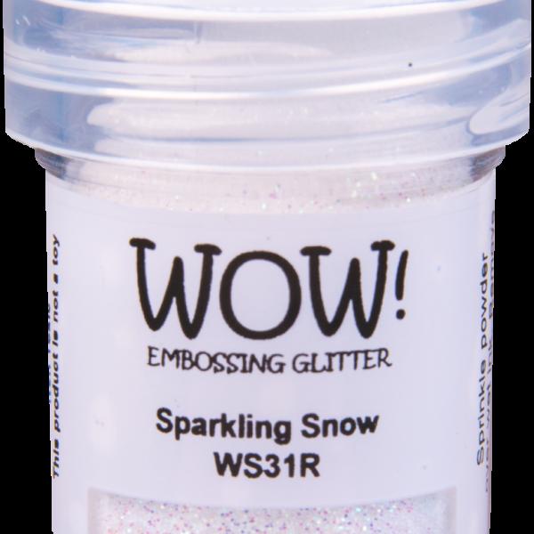 "Пудра для эмбоссинга с глиттером "" Embossing Glitters Sparkling Snow - Regular"" от WOW!"